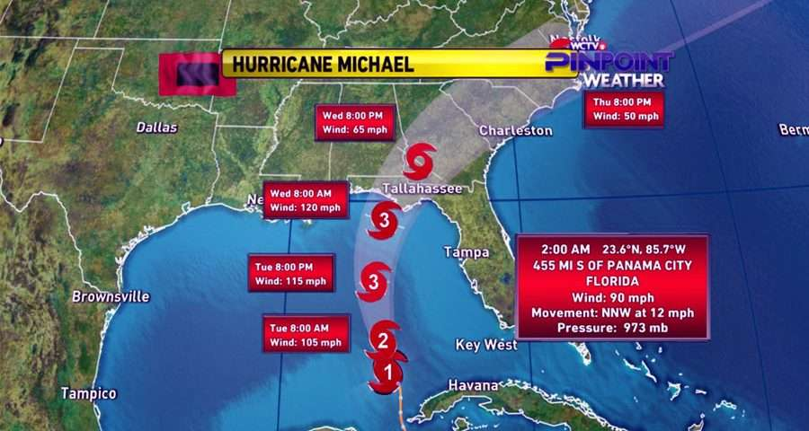Hurricane Michael Heads To Panhandle As Category 3 Storm
